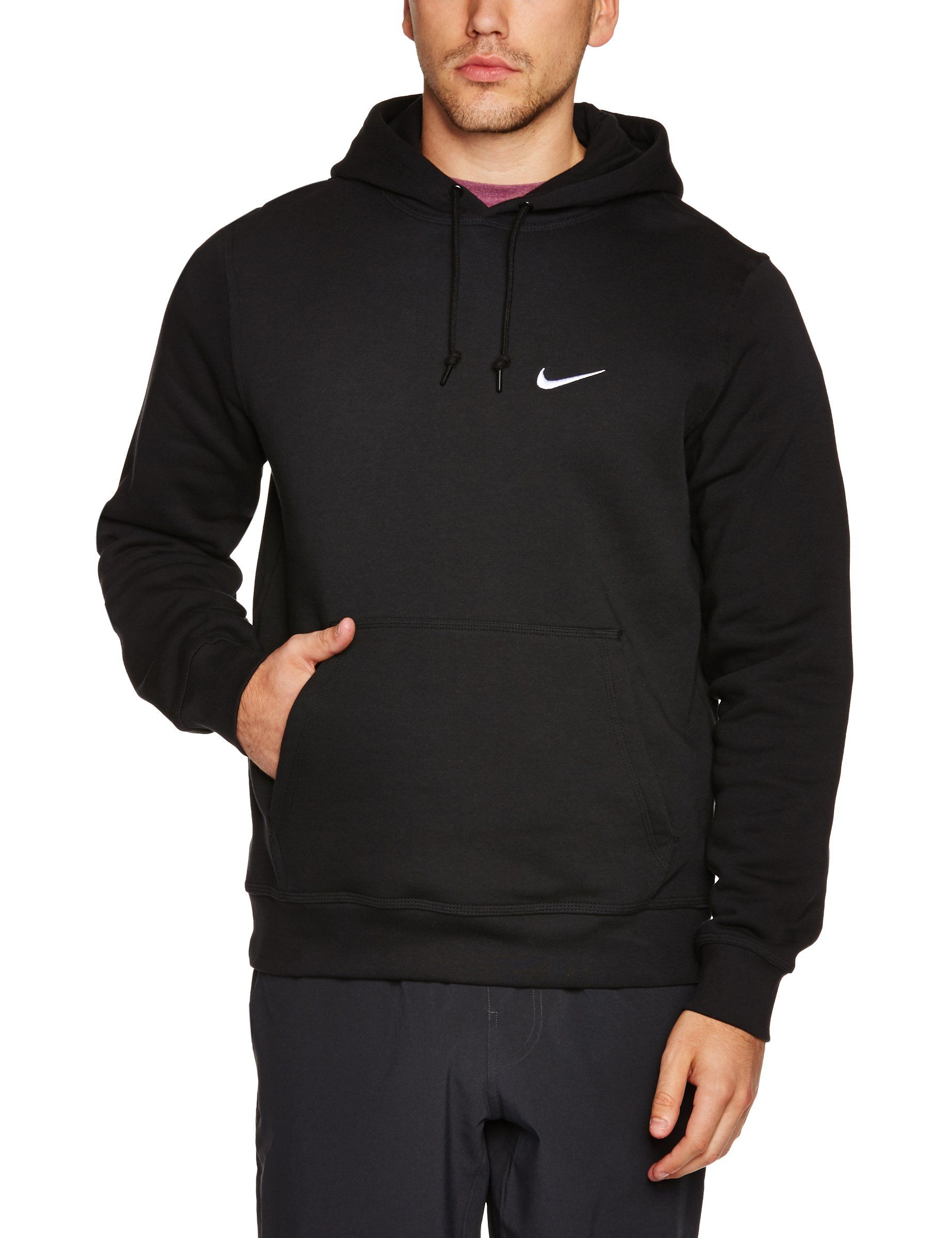 Nike Men's Club Swoosh Hoody Long Sleeve Top: Amazon.co.uk: Sports