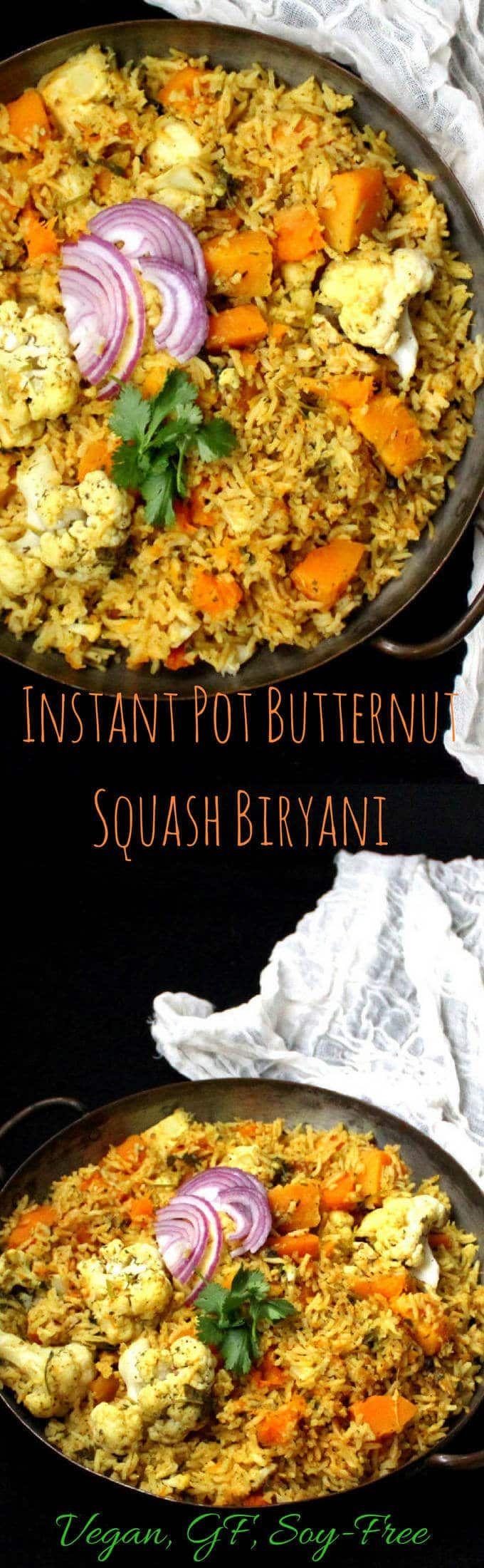 Butternut Squash Biryani In An Instant Pot