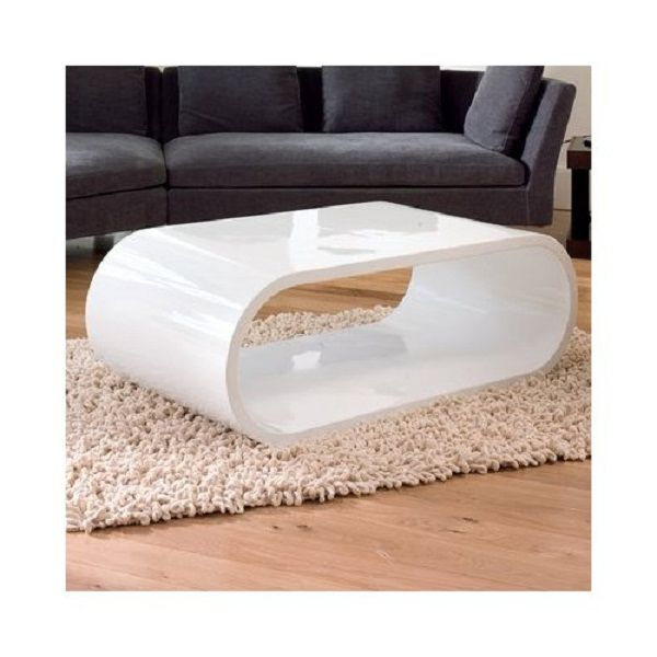 Add A Touch Of Classiness With An Elegant White Coffee Table