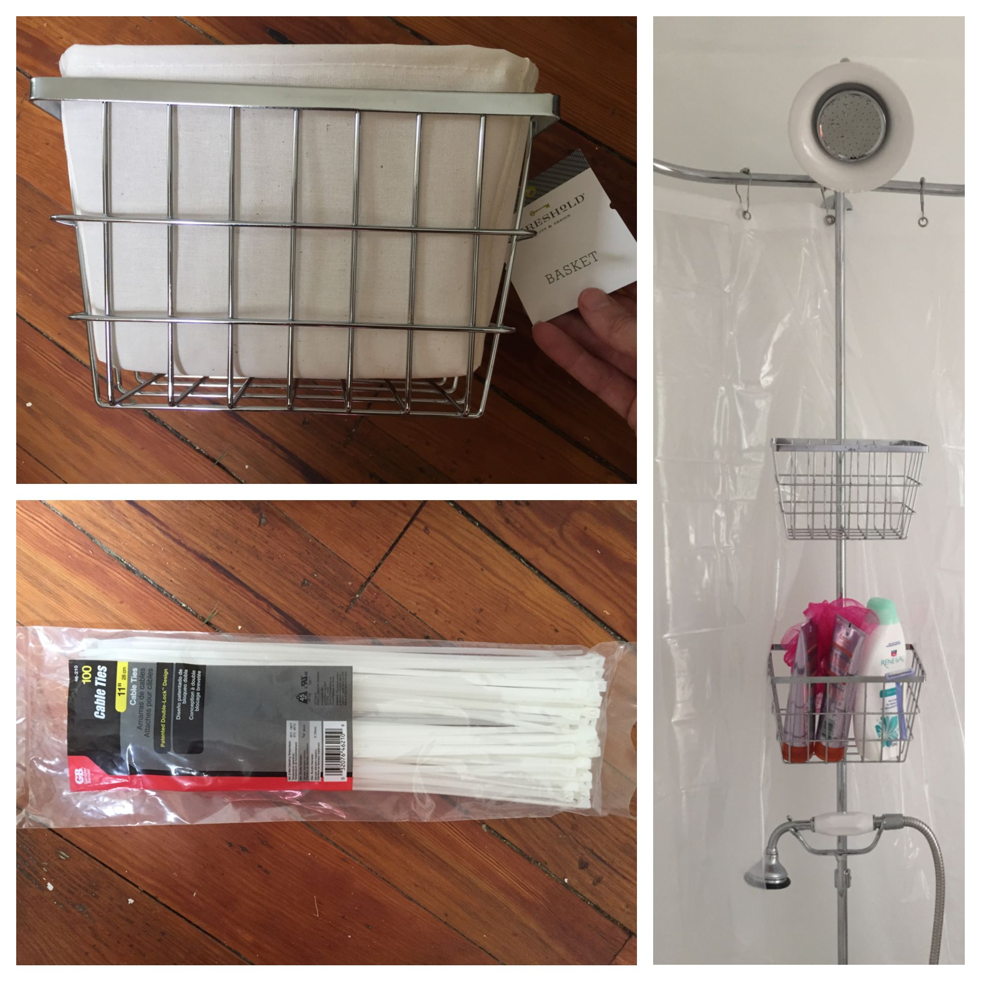 My Clawfoot Tub Shower Storage Life Hack With Images