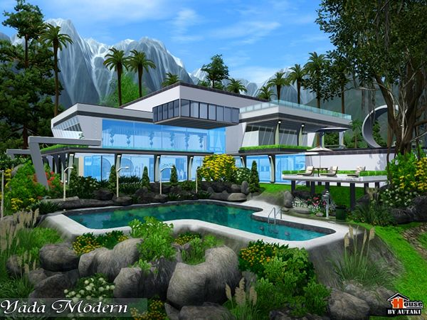 Yada Modern house by Autaki - Sims 3 Downloads CC Caboodle | Sims 3 ...