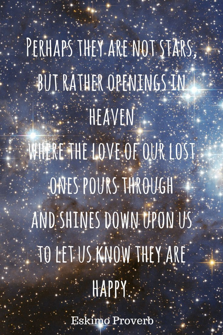 Perhaps they are not stars but rather openings in heaven