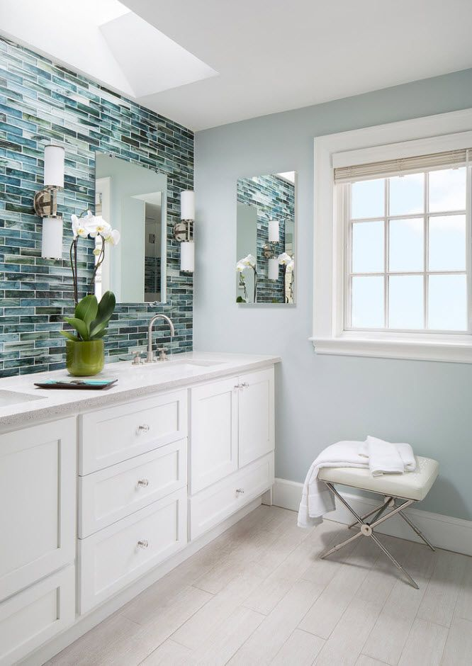 Bathroom tiles trends with photogallery of interiors 2017 for Bathroom tile trends 2017