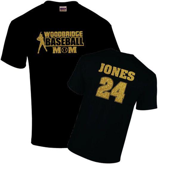 Baseball Mom Shirt Name And Number On Back Team