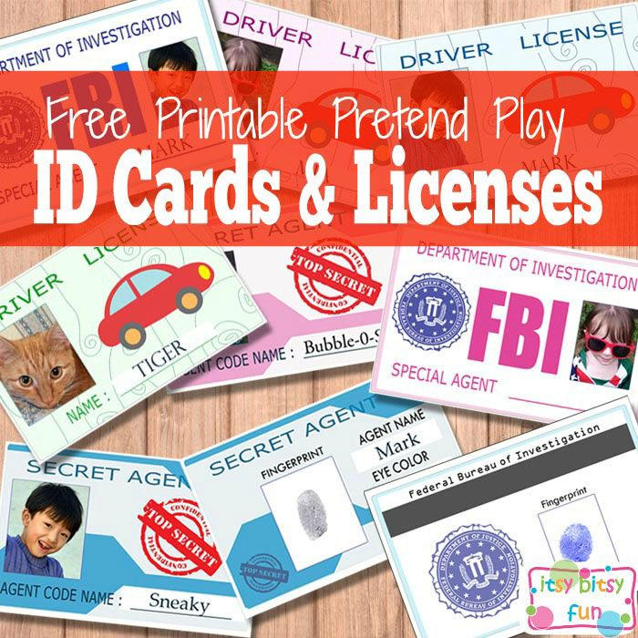 Cards Activities And Id Free Crafts Kids Kids Playing For Printable Licenses Cards