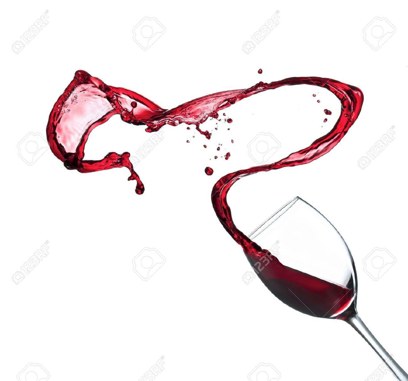 Copa con vino tinto derrama su contenido fondo blanco for Copa vino blanco