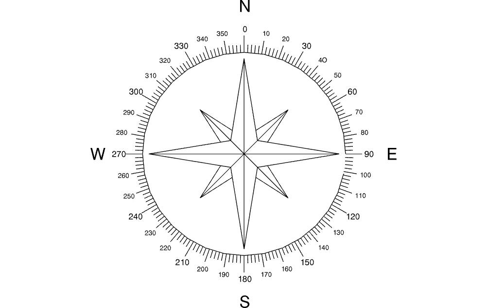North Arrow Compass Dxf File Dxf Compass Arrow