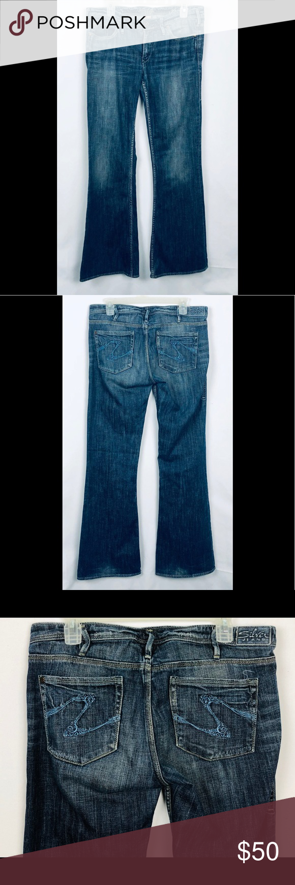 2e7e835b47c Silver Jeans Flare Isabel Size 32 Preowned Silver Isabel Flare Jeans made  in Canada Size 32