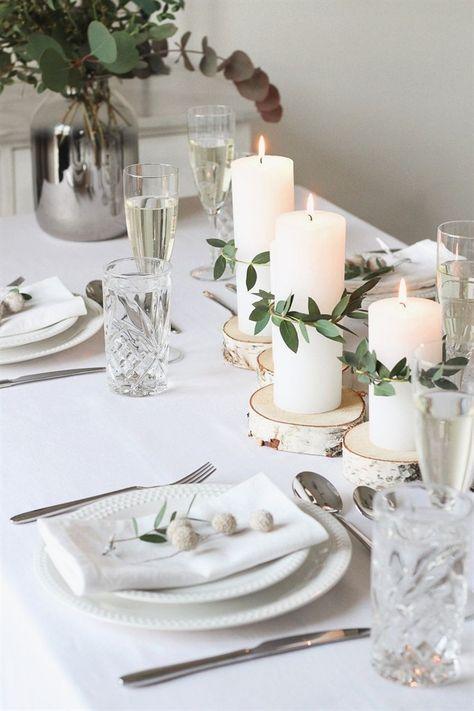 Minimalistische & Festliche Tischdekoration zum Weihnachtsfest »alexandrawinzer.com
