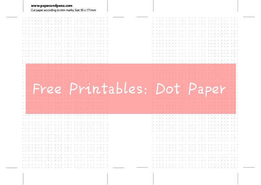 Free Printable Dot Paper For Instant Download  Free Planner