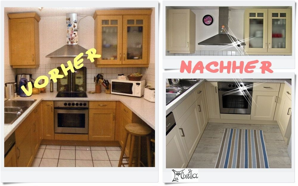 Old kitchen, new look! -  My major project for 2014: prettify our kitchen! If you buy an older house, you usually get an old  - #decoratingideasforthehome #diykitchenideas #diykitchenprojects #homediycrafts #Kitchen