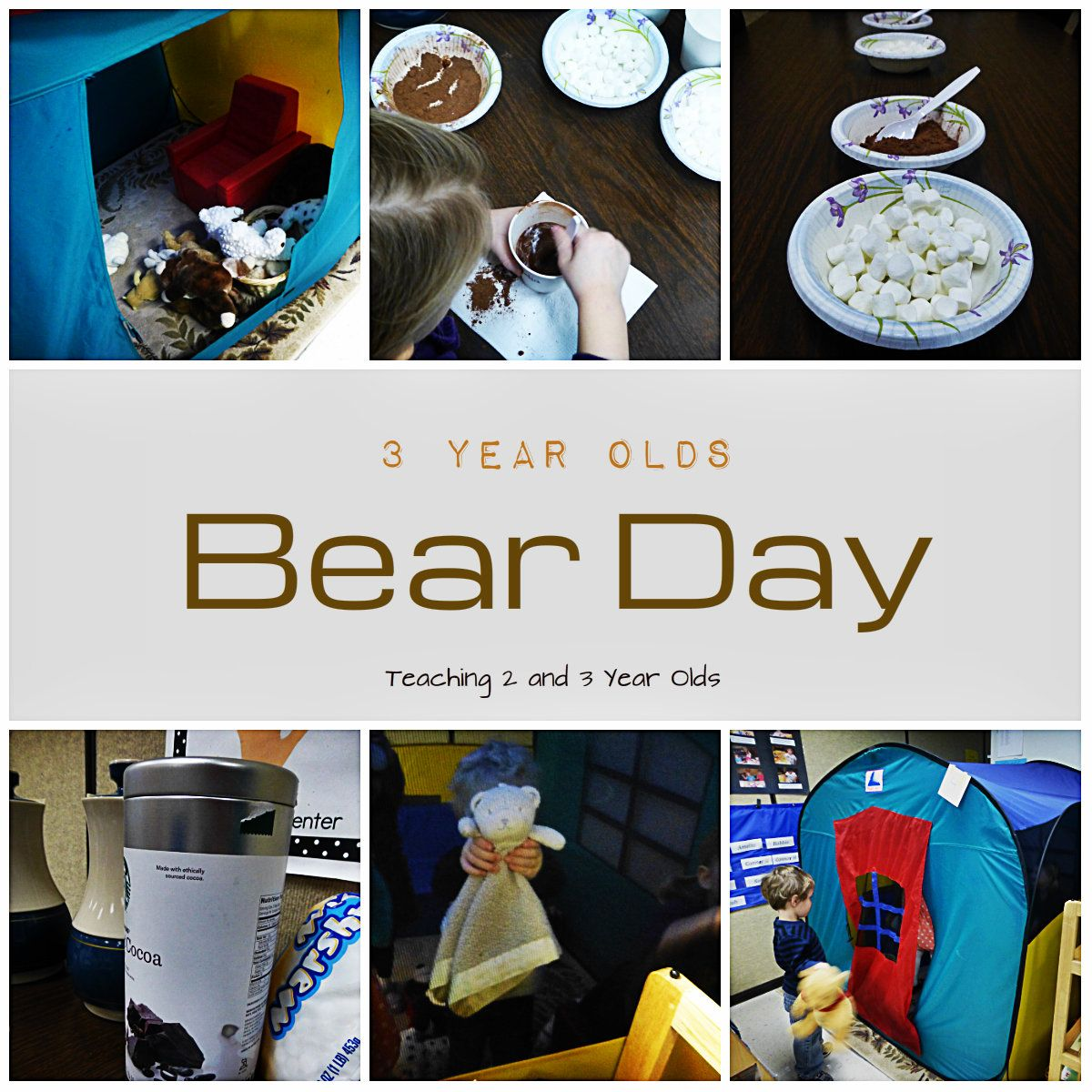 Winter Dramatic Play Idea With A Bear Cave