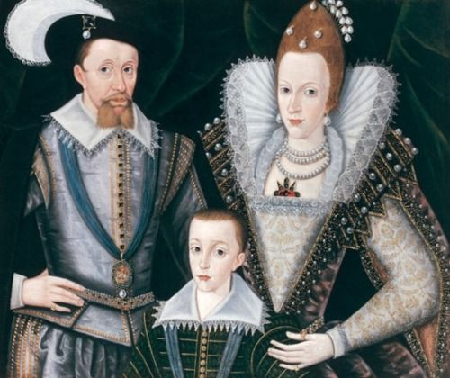 James I of England, Anne of Denmark and their eldest son Henry, Prince of Wales