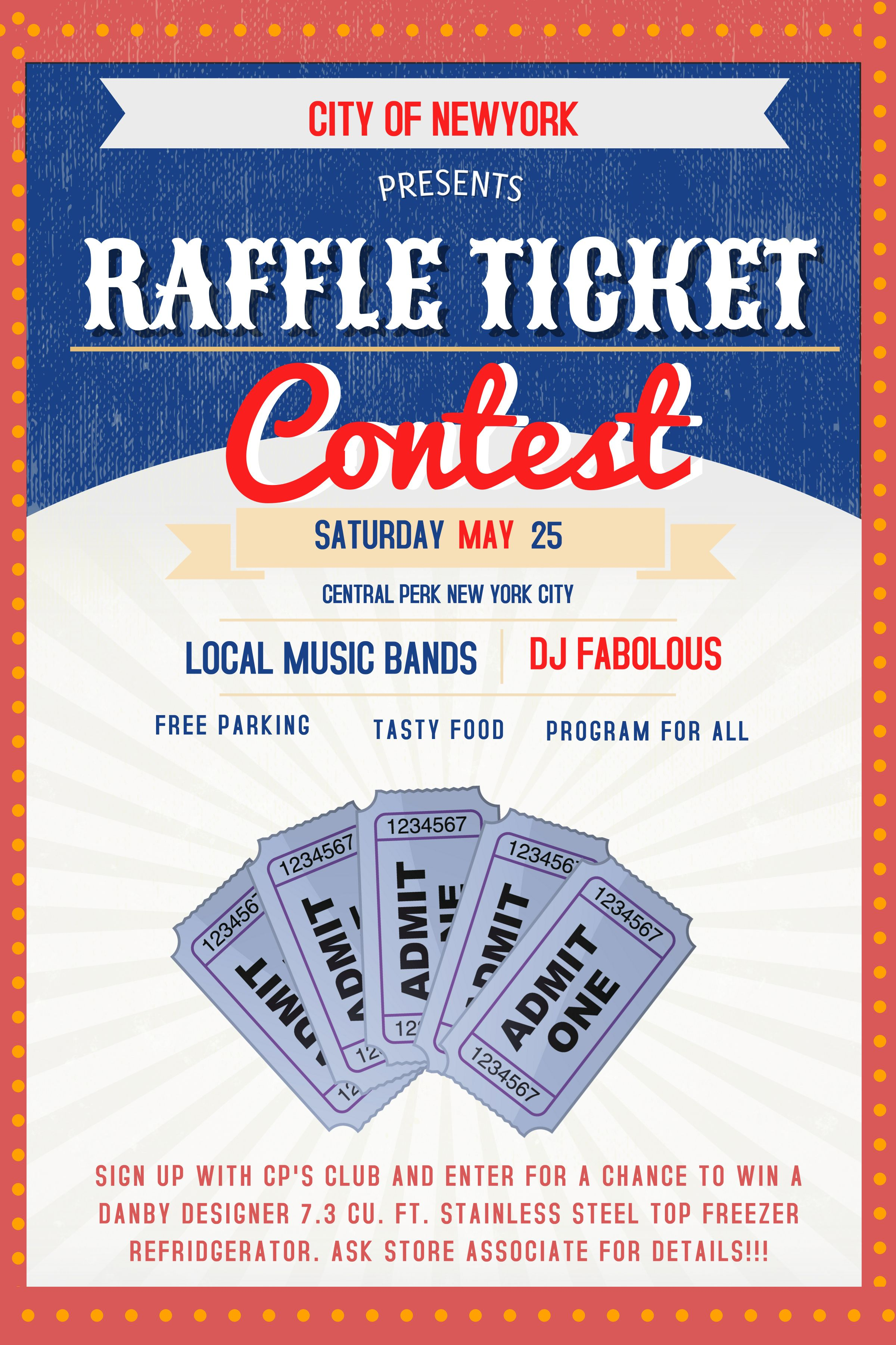 Raffle Flyer Poster Social Media Post