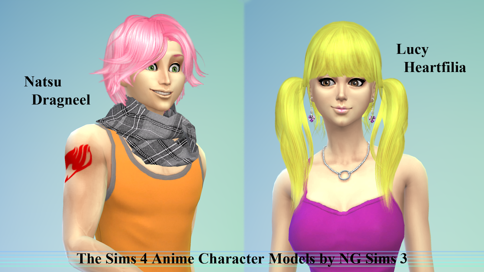 fairy tail characters - Google Search | The Sims | Sims ...