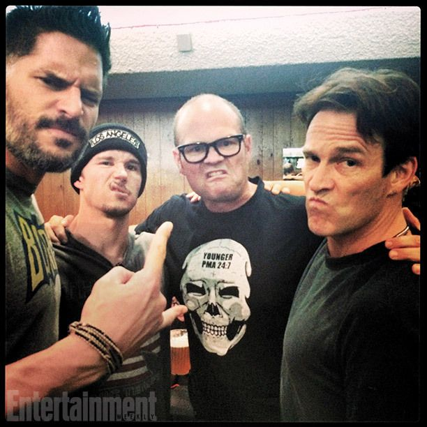 Joe Manganiello, Ryan Kwanten, Chris Bauer, and Stephen Moyer