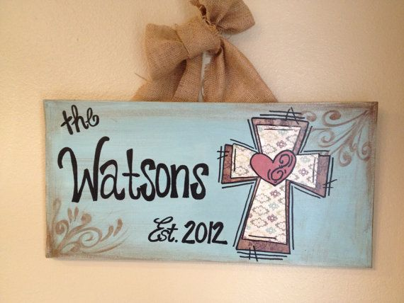 Personalized Family Cross Canvas by MalloryAnnDesigns on Etsy, $40.00