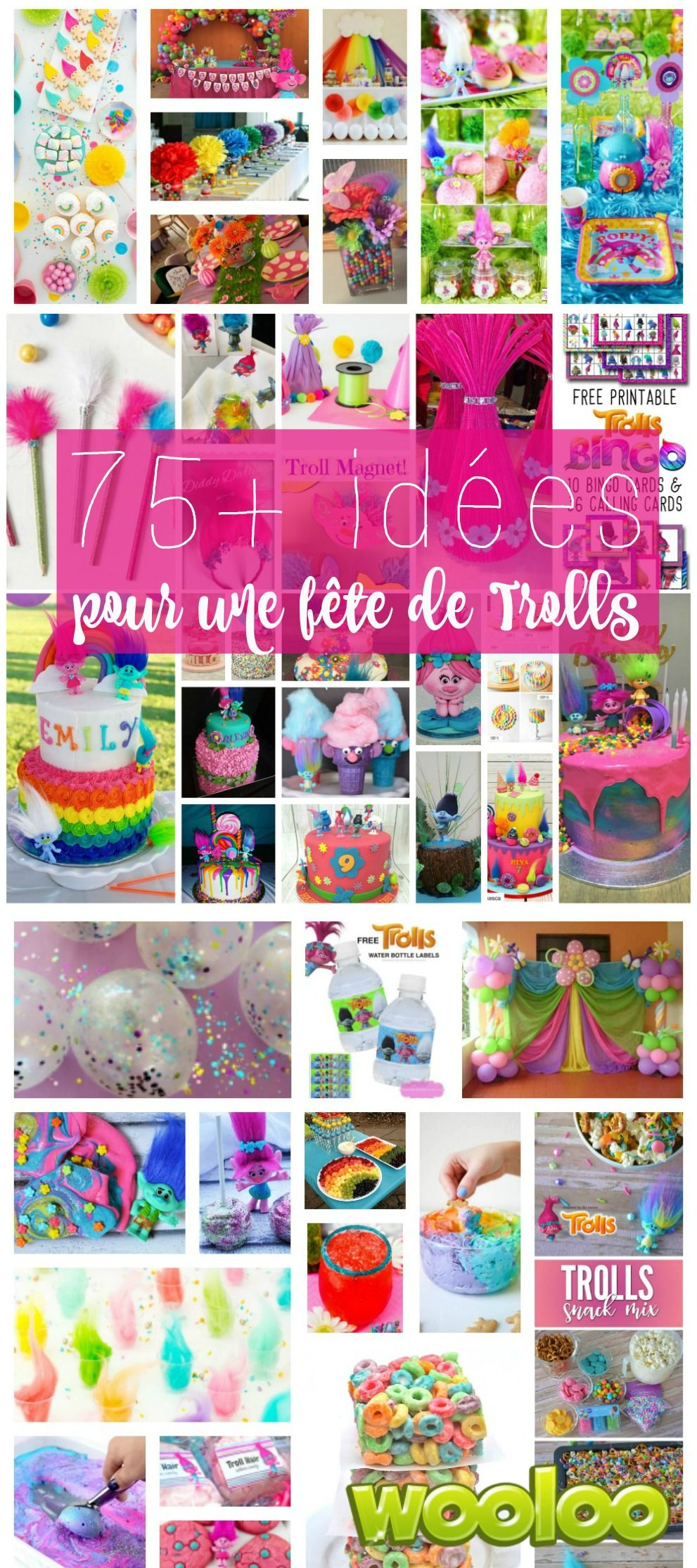 abbastanza Idées pour organiser une fête de Trolls | Trolls birthday party  PO22