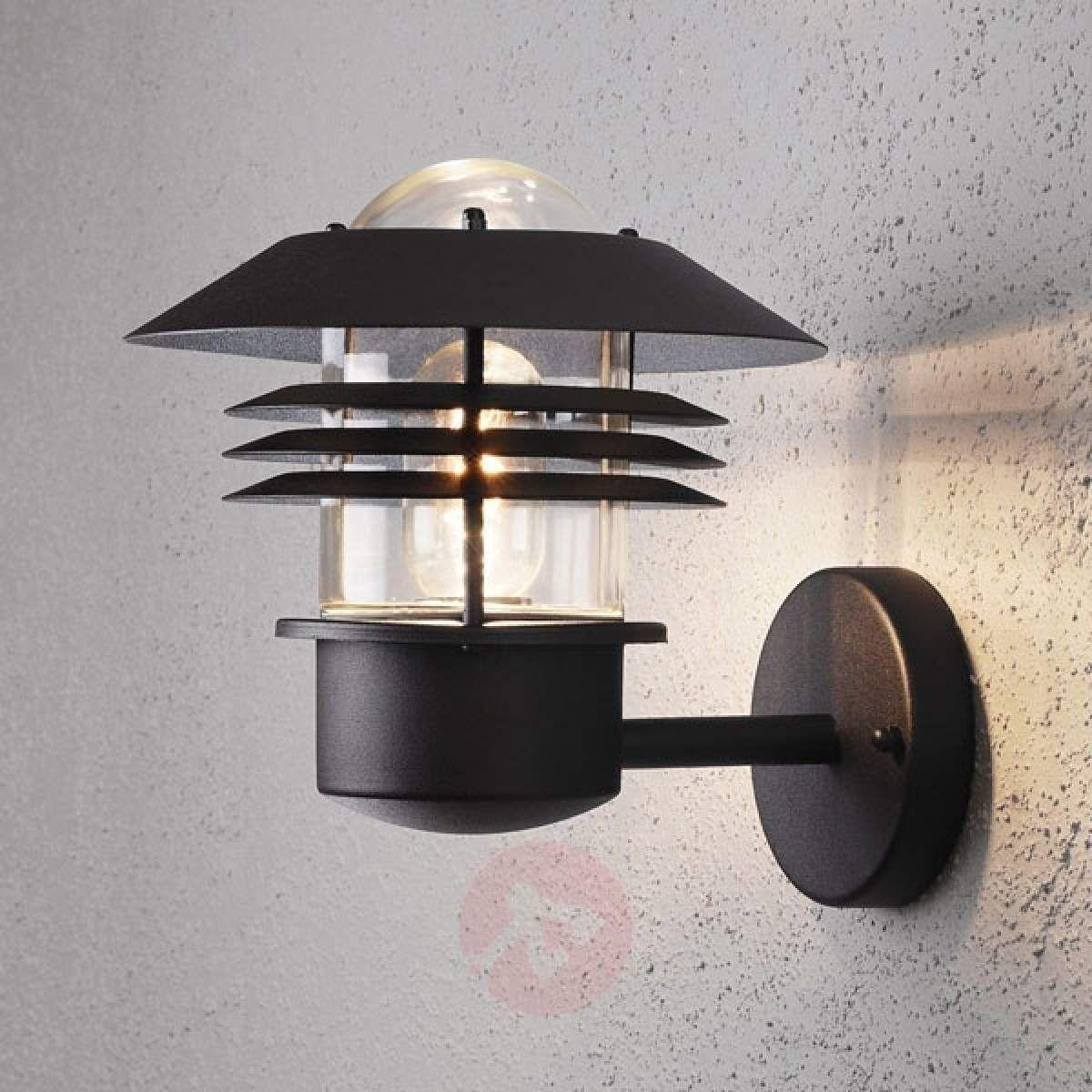 Zewnętrzna Lampa ścienna New Modena Czarna Lampy Wiszące