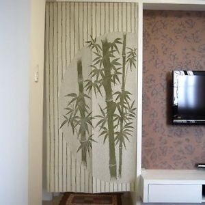 Chinese Bamboo Design Door Curtain Japanese Noren D2942 Ebay