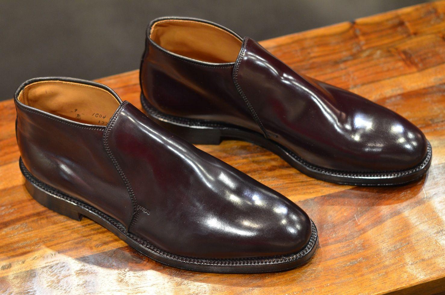 Shell cordovan shoes, Dress shoes men