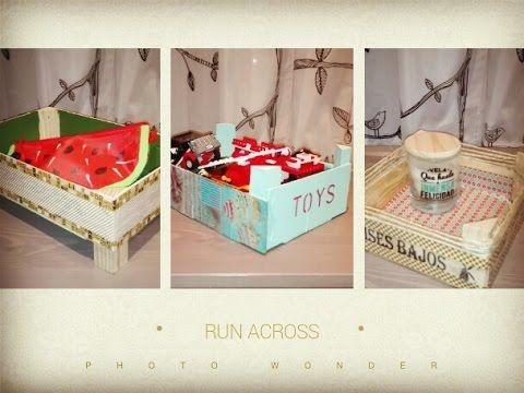 Diy como decorar una caja de carton youtube carton - Como decorar cajas de madera de fruta ...