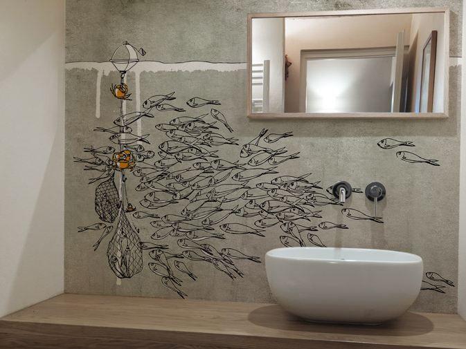 Washable vinyl wallpaper sea by glamora design pg for Carta da parati per soffitto