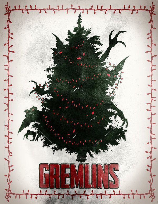 Gremlins Poster Gremlins Creepy Christmas Christmas Horror