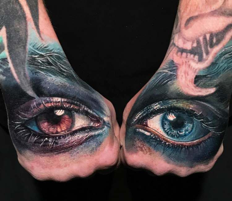 Eyes Tattoo By Boris Tattoo Post 24834 Hand Tattoos Eye Tattoo Hand Tattoos For Guys