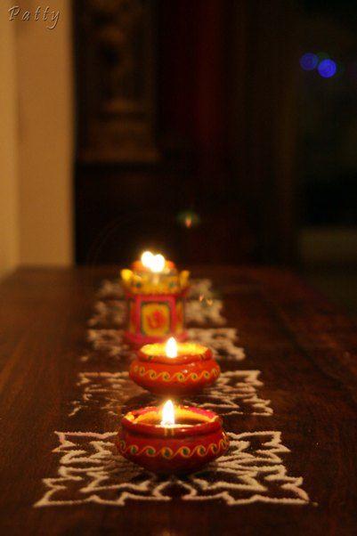 Diwali Decor Ideas Lamps Diyas Lanterns Flowers Rangoli Fairy Lights Colour Decor India