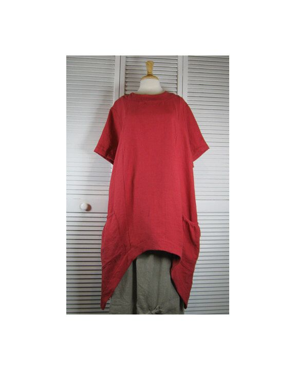 Bedrock Plus Flax Linen Tunic in 15 Colors - 1XL - 4XL    Made to Order by MaxEquations on Etsy https://www.etsy.com/listing/223395956/bedrock-plus-flax-linen-tunic-in-15