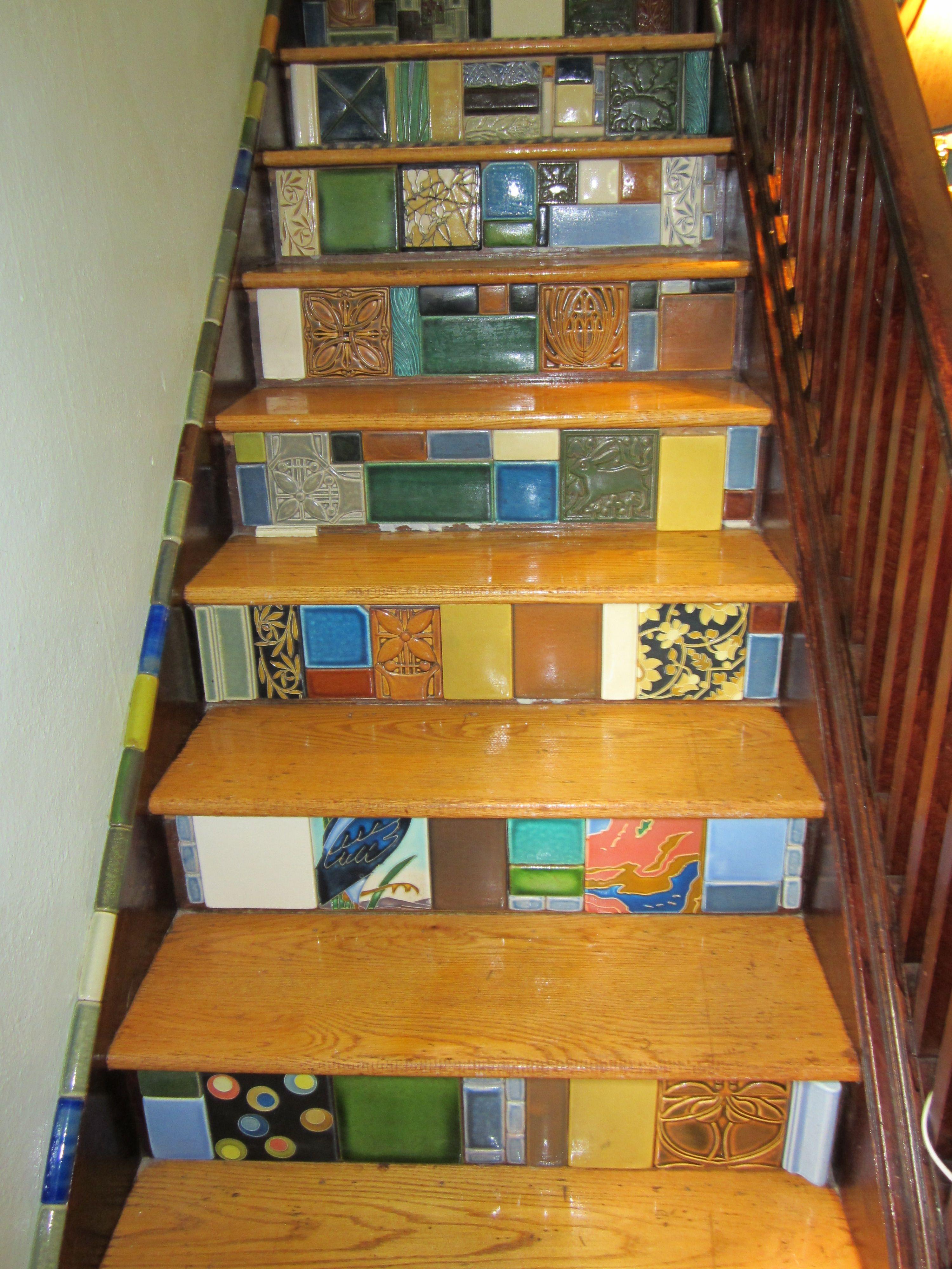 Motawi Tile Stair Risers Motawi Tile Stairs Stairs