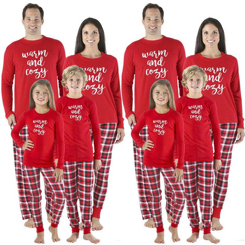 Details about Christmas Family Matching Pajamas Set Adult