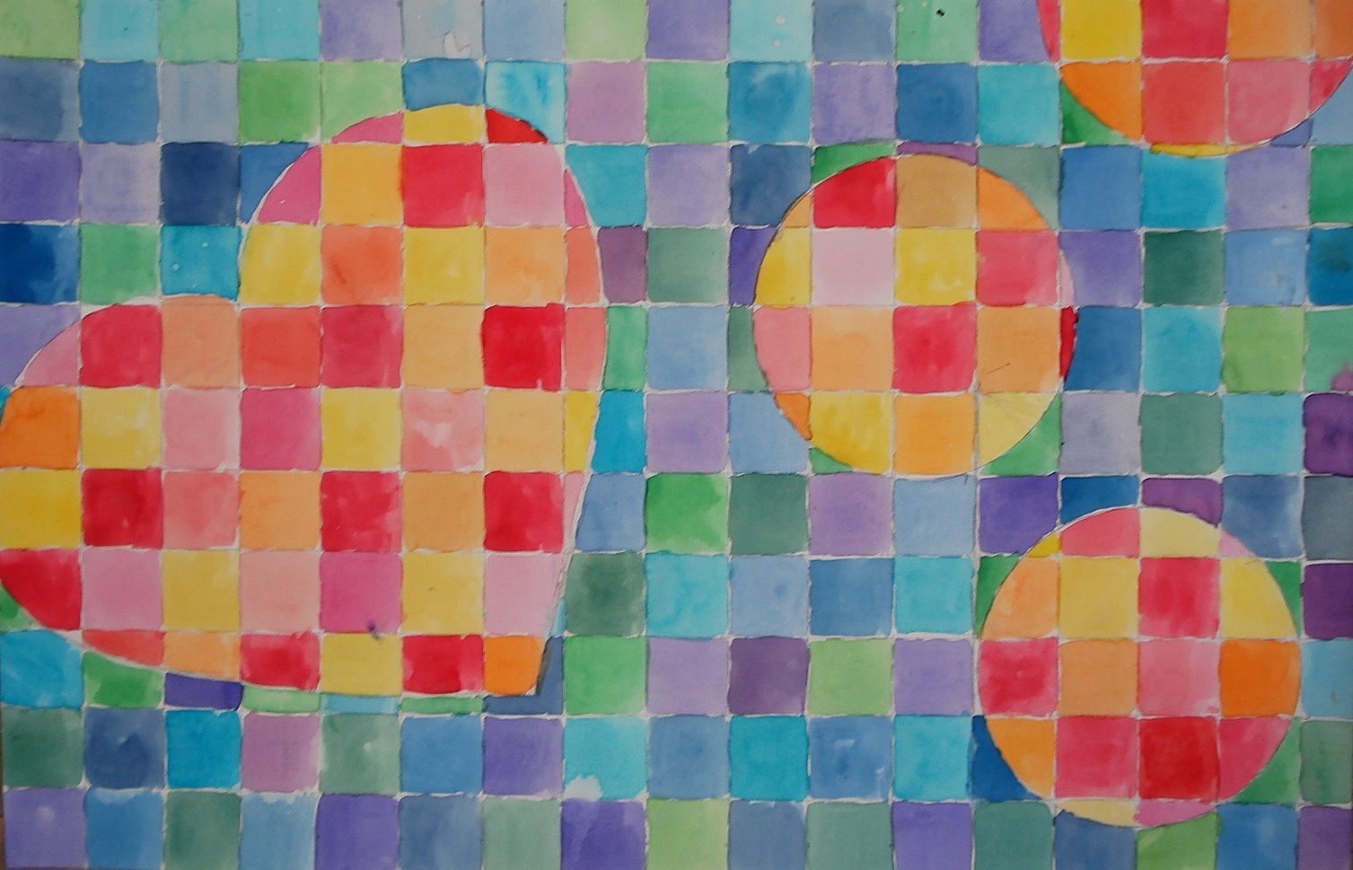 Warm Cool Watercolour Grid