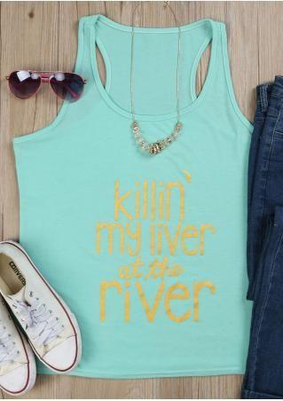 Killin' My Liver At The River Vogue Tank