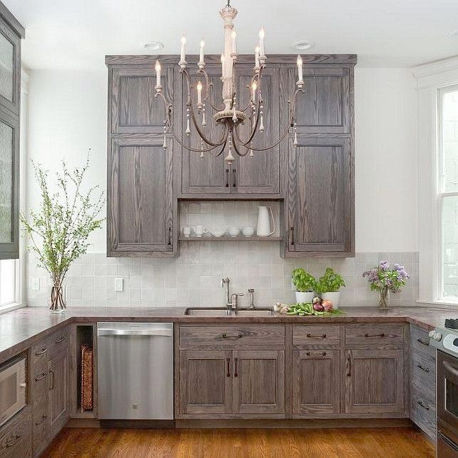 Beautiful Staining Oak Cabinets White Gray Stain Google Search