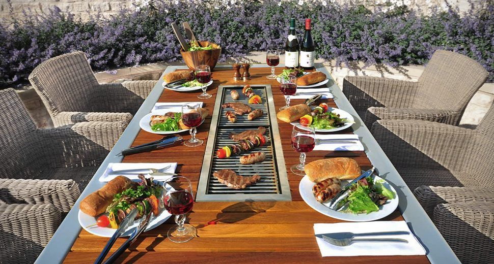 Angara Maximus Barbecue Table Built In Bbq Grill Outdoor Bbq Grill Bbq Table