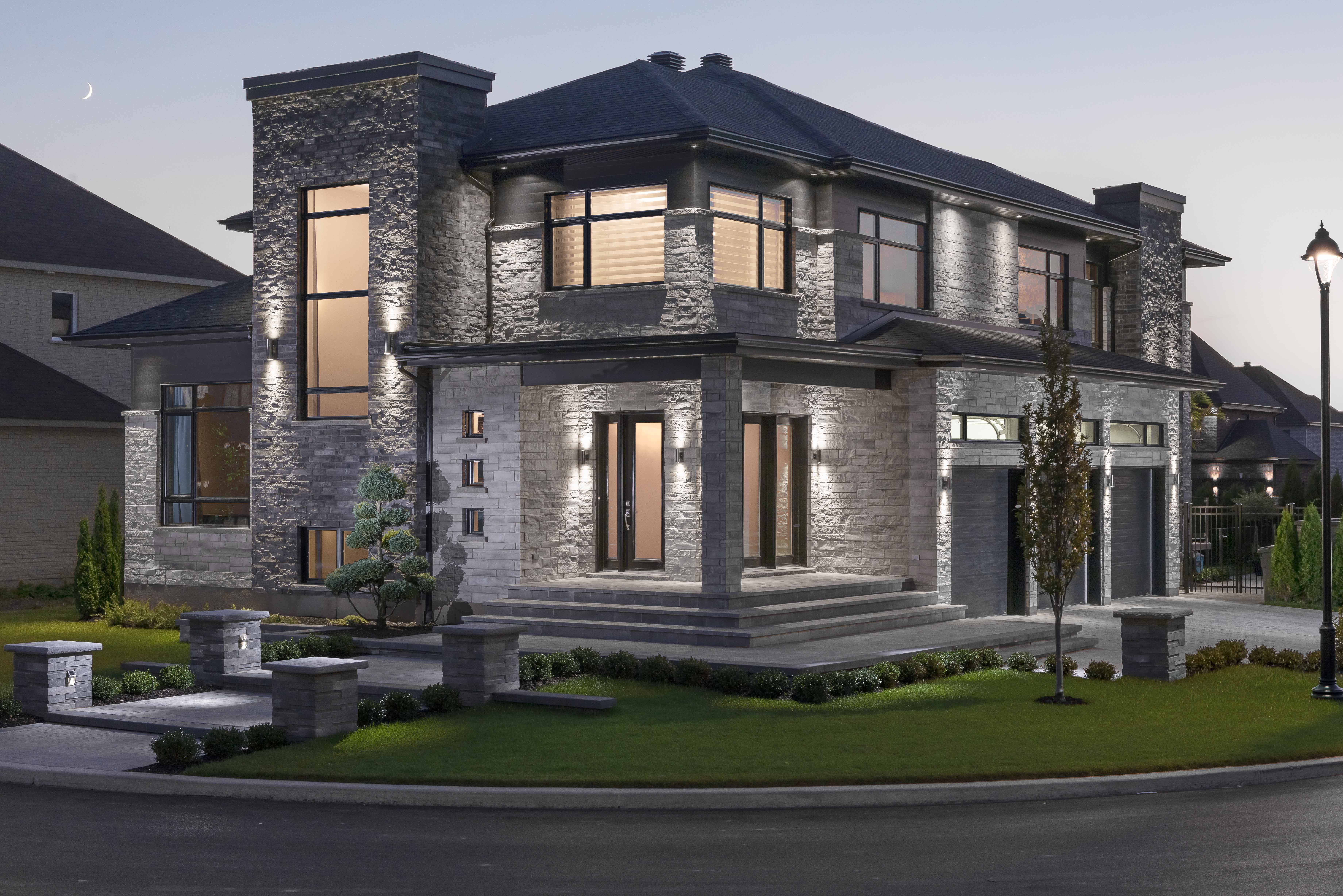 Contemporary House architecture using Rinox Lorado and Lotis stone ...