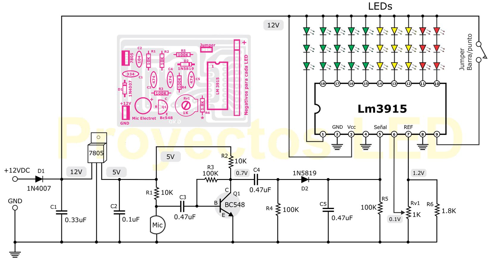 Diagrama Vumetro En 2018 Pinterest Diagram Electronic Circuits Diagramselectronics Projects Designshobby