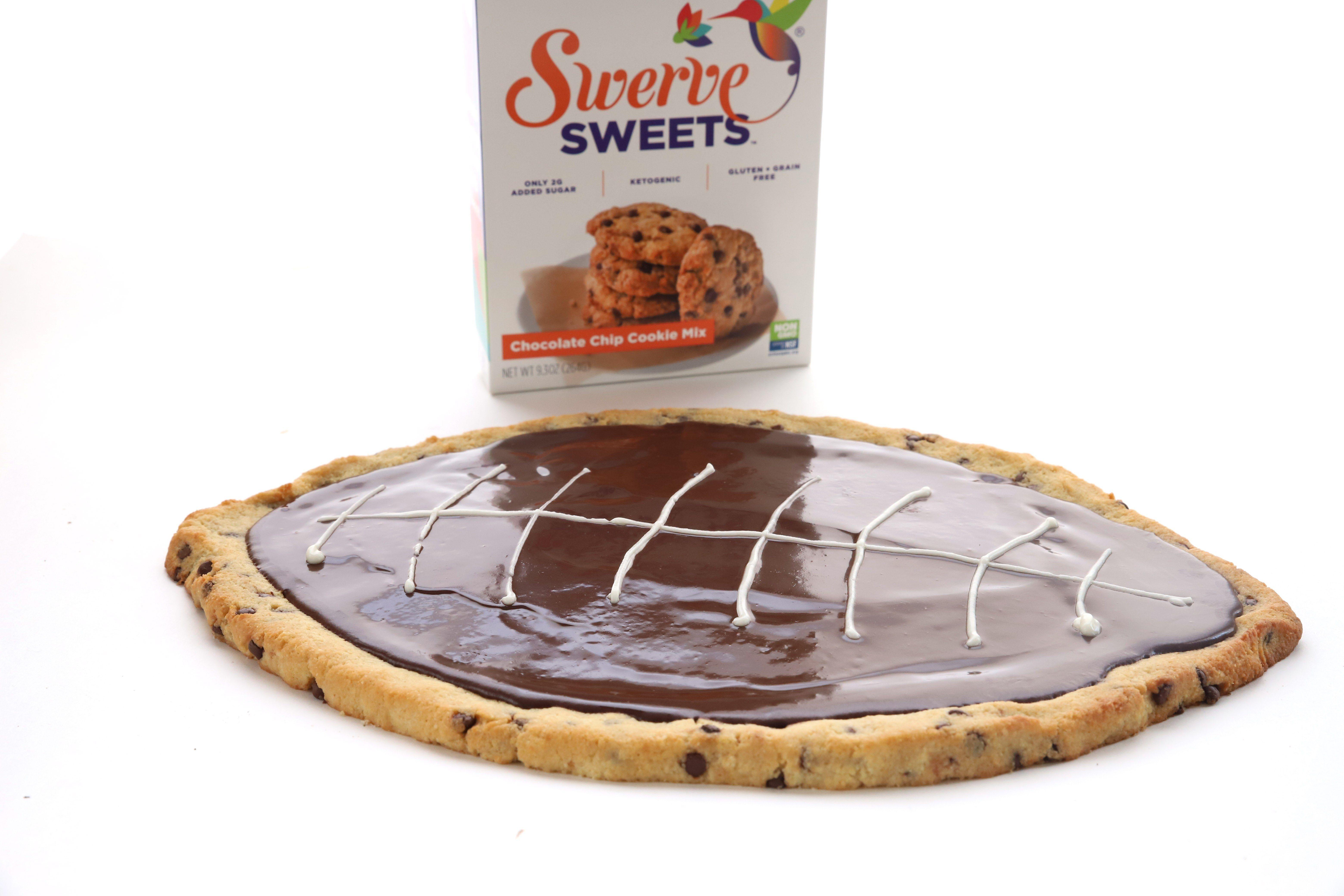 Football cookie cake swerve swervesweets football