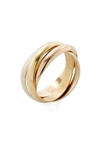 0c706b9c8866 Vintage Cartier 18K Tri-Color Gold Trinity Ring by Cartier at Gilt ...