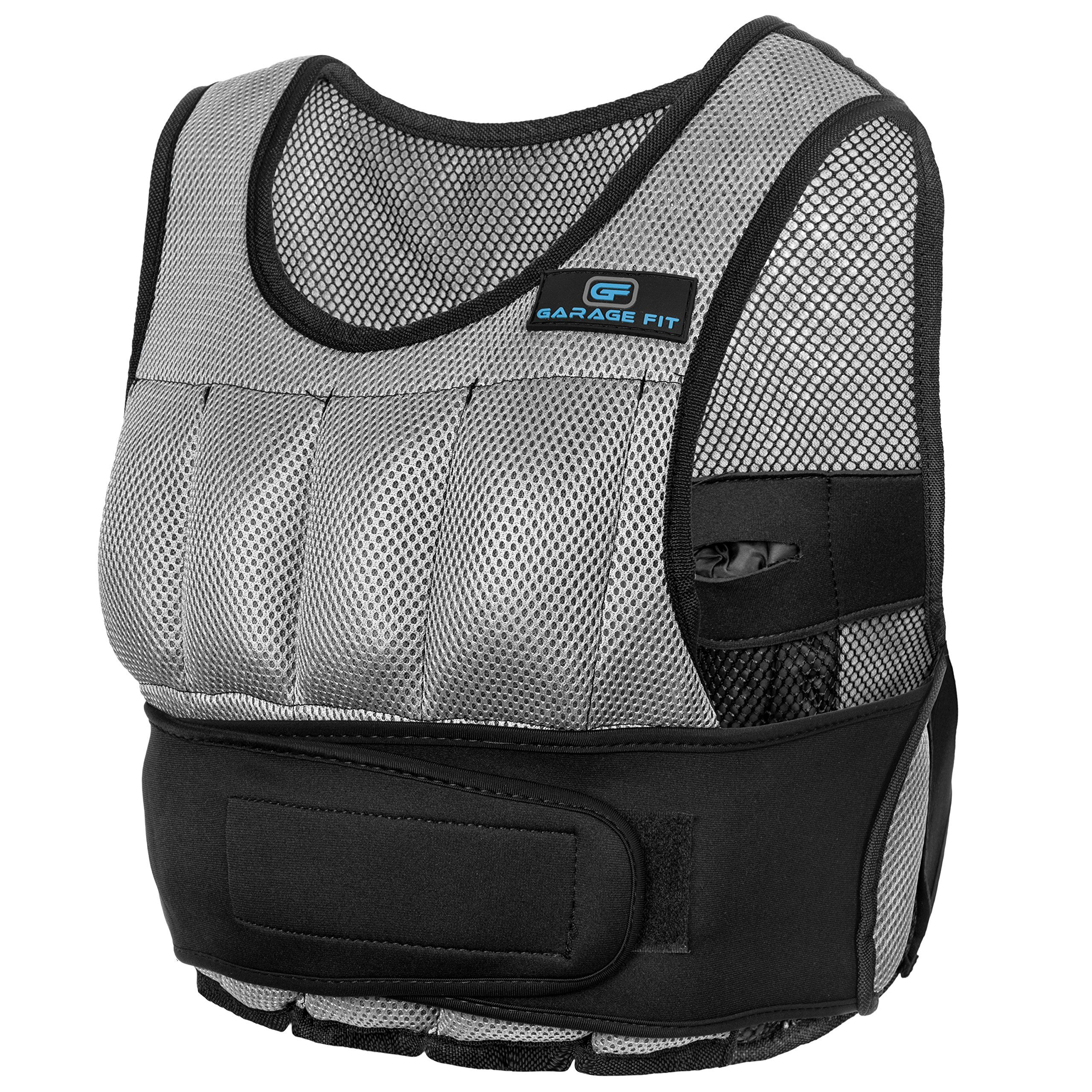 Weight Vest For Training (Gray, 10 lb) Adjustable