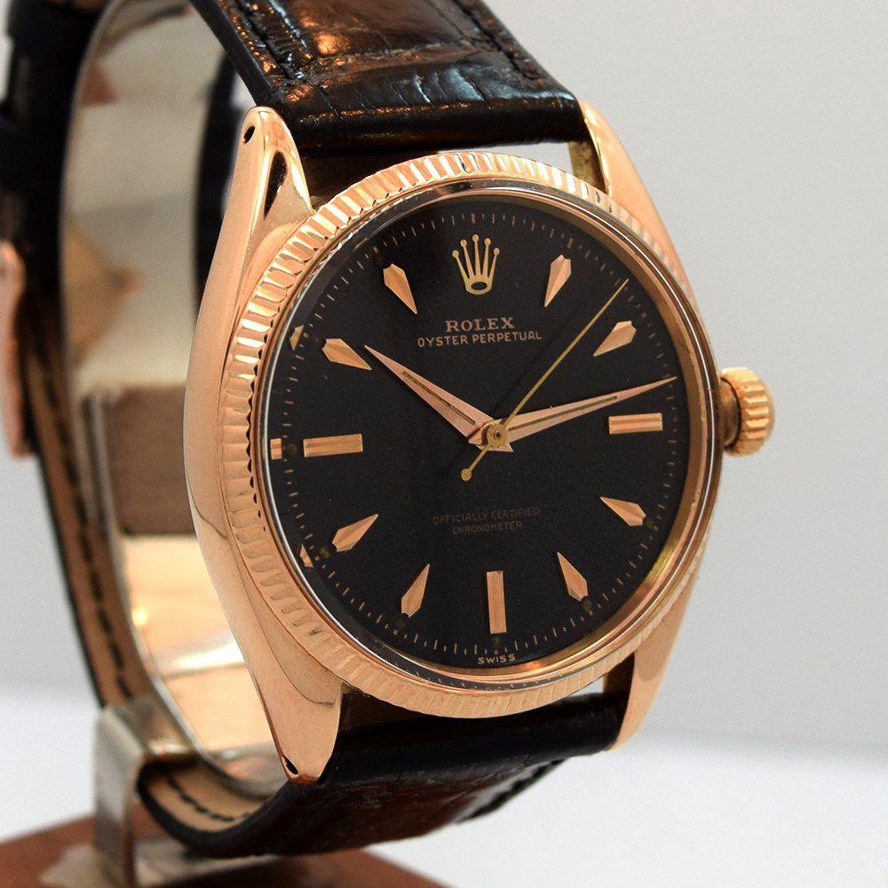 1956 Rolex Oyster Perpetual Rose Gold 18k Ref 6567 Rolex Oyster Perpetual Rolex Oyster Vintage Watches