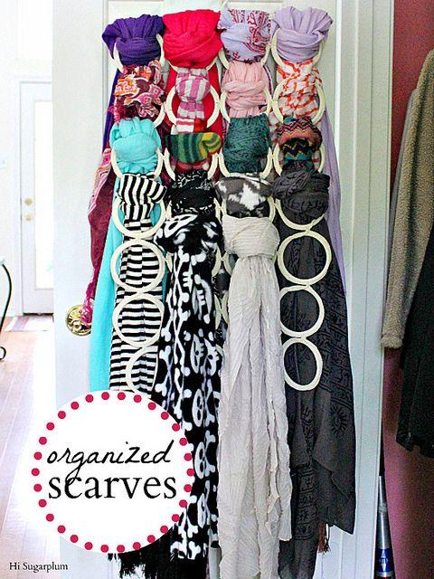 Diy scarf organizer do it yourself storage pinterest diy scarf organizer solutioingenieria Image collections