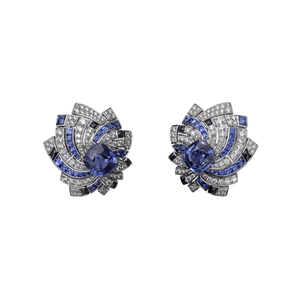 Cartier Earrings  White Gold, 483carat And 361carat Cushionshaped