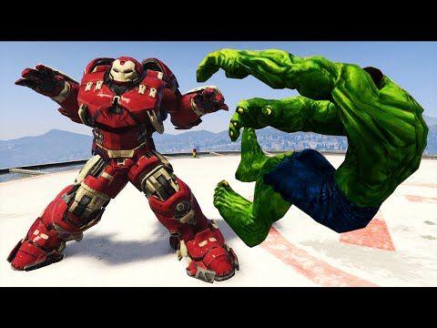 YouTube | Blitzwinger | Gta 5 mods, Hulk smash, Iron man