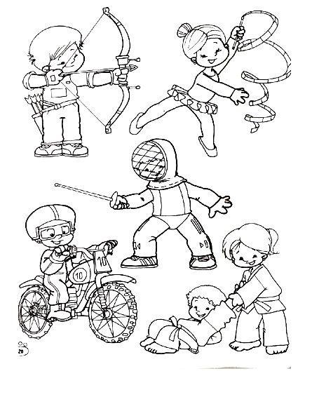 Deportes. Fichas para imprimir y colorear | deportes | Deportes