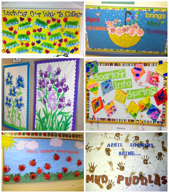 Spring Bulletin Board Ideas For The Classroom Crafty Morning Spring Bulletin Boards Spring Bulletin Preschool Bulletin Boards