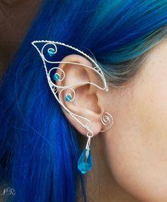 Elvenelf Ear Cuffswraps Turqoise Stars Silver Plated Deshas