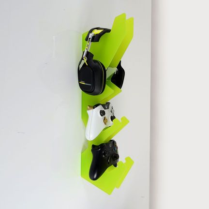 Wall Mounted Games Controller And Headset Holder Own Design Boys Game Room Game Room Design Video Game Bedroom